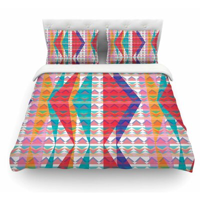 Triangle Illusion by Miranda Mol Geometric Featherweight Duvet Cover Size: King