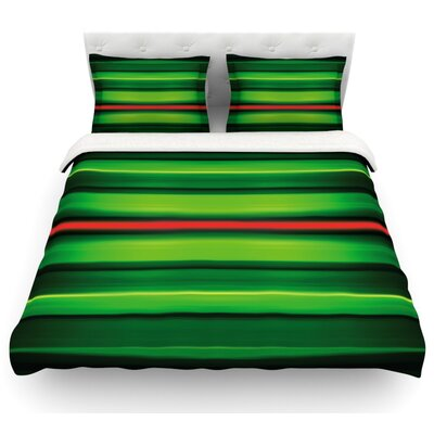 Stripes by Matthias Hennig Featherweight Duvet Cover Size: Queen, Fabric: Lightweight Polyester