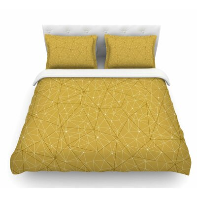 Wanderlust by Michelle Drew Geometric Featherweight Duvet Cover Color: Yellow, Size: King