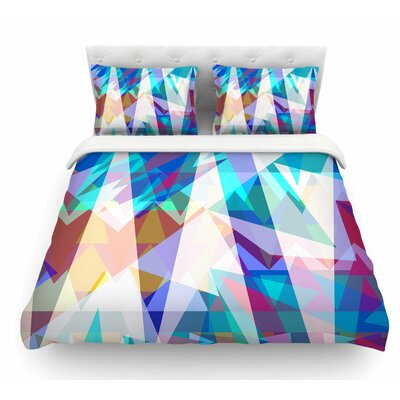 Triangle Party by Miranda Mol Featherweight Duvet Cover Size: Twin