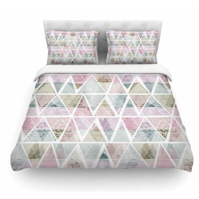 Triangle Mountains by Michelle Drew Featherweight Duvet Cover Size: Twin