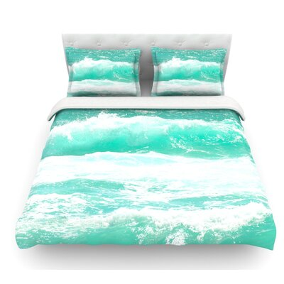 Maui Waves by Monika Strigel Featherweight Duvet Cover Size: Twin