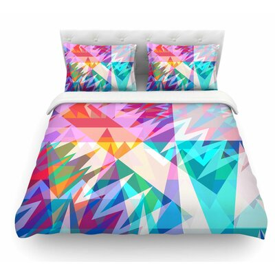 Triangle Feast by Miranda Mol Abstract Geometric Featherweight Duvet Cover Size: Twin