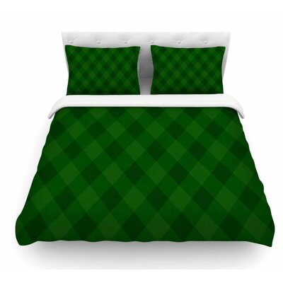 Matt Eklund Featherweight Duvet Cover Color: Forest/Green, Size: Queen