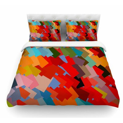 Playful Rectangles by Matthias Hennig Featherweight Duvet Cover Size: Queen