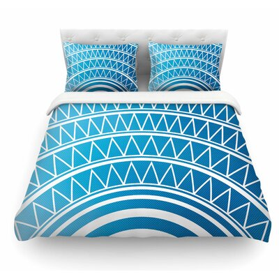 Portal by Matt Eklund Featherweight Duvet Cover Color: Blue/White, Size: King