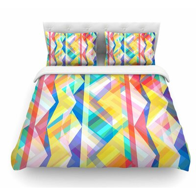 Triangle Rhythm by Miranda Mol Pastel Geometric Featherweight Duvet Cover Size: Queen