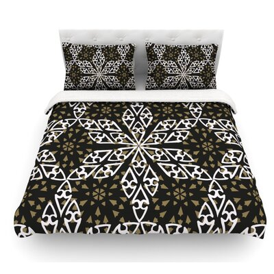 Ethnical Snowflakes by Miranda Mol Featherweight Duvet Cover Size: King, Fabric: Woven Polyester