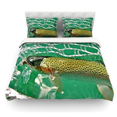 Catch by Maynard Logan Featherweight Duvet Cover Size: Twin, Fabric: Lightweight Polyester