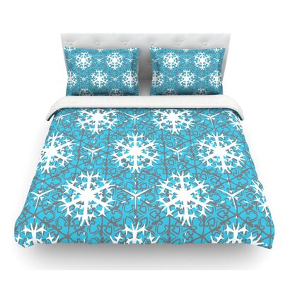 Precious Flakes by Miranda Mol Featherweight Duvet Cover Size: Twin, Fabric: Lightweight Polyester