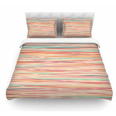 Stripy Wood Bark by Michelle Drew Stripes Featherweight Duvet Cover Size: Twin