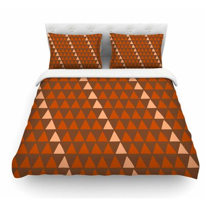 Overload by Matt Eklund Featherweight Duvet Cover Size: King, Color: Brown/Orange