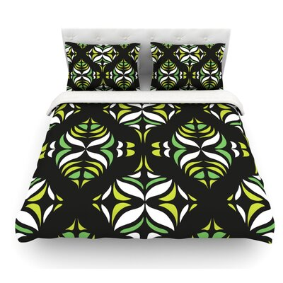 Retro Train by Miranda Mol Featherweight Duvet Cover Size: King, Fabric: Cotton
