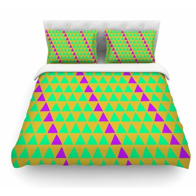 Overload by Matt Eklund Featherweight Duvet Cover Size: King, Color: Teal/Purple