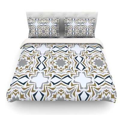 Ice Stars by Miranda Mol Featherweight Duvet Cover Size: Twin, Fabric: Lightweight Polyester