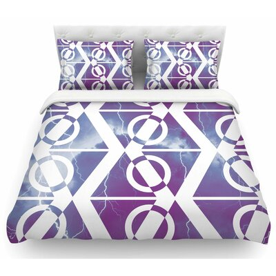 Storm by Matt Eklund Featherweight Duvet Cover Size: Twin, Color: Purple/White