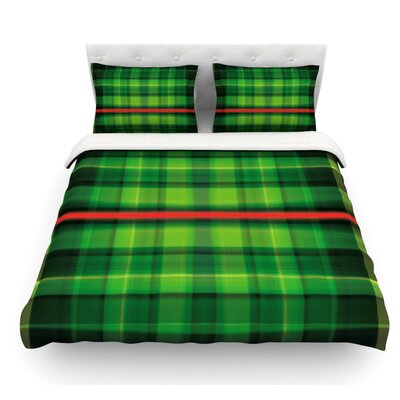 Tartan by Matthias Hennig Featherweight Duvet Cover Size: King, Fabric: Woven Polyester