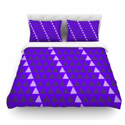 Overload by Matt Eklund Featherweight Duvet Cover Color: Purple/Digital, Size: Queen