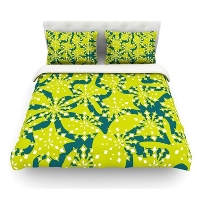 Festive Splash by Miranda Mol Featherweight Duvet Cover Size: King, Fabric: Lightweight Polyester