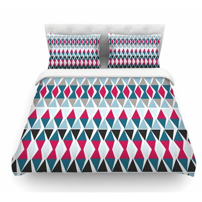 Triangle Circus Drums by Michelle Drew Featherweight Duvet Cover Size: King