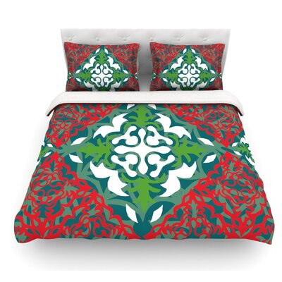 Lace Flakes by Miranda Mol Featherweight Duvet Cover Size: Twin, Fabric: Woven Polyester