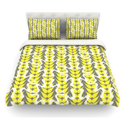 Whirling Leaves by Miranda Mol Featherweight Duvet Cover Size: Twin, Fabric: Lightweight Polyester