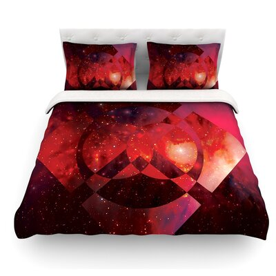 Galactic Radiance by Matt Eklund Featherweight Duvet Cover Size: Twin, Color: Coral