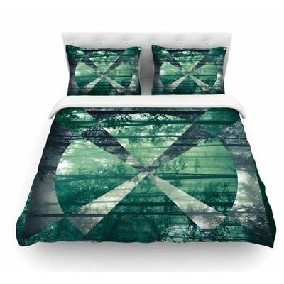 Foliage by Matt Eklund Geometric Featherweight Duvet Cover Size: Queen