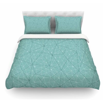 Wanderlust by Michelle Drew Geometric Featherweight Duvet Cover Color: Blue, Size: Queen