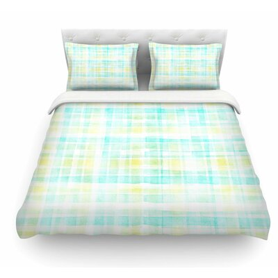 Watercolor Tartan by Michelle Drew Featherweight Duvet Cover Size: King