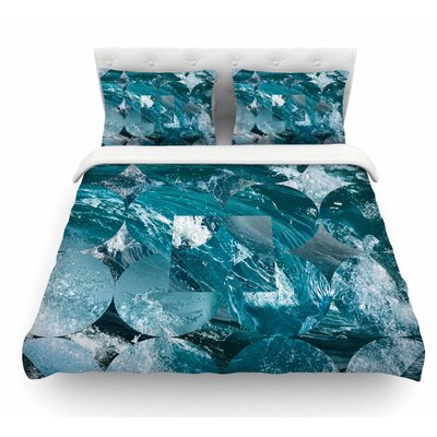 Crashing by Matt Eklund Geometric Featherweight Duvet Cover Size: King