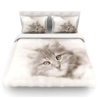 Main Coon Kitten by Monika Strigel Cat Featherweight Duvet Cover Size: Twin