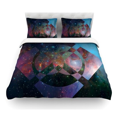 Galactic Radiance by Matt Eklund Featherweight Duvet Cover Color: Blue, Size: Queen