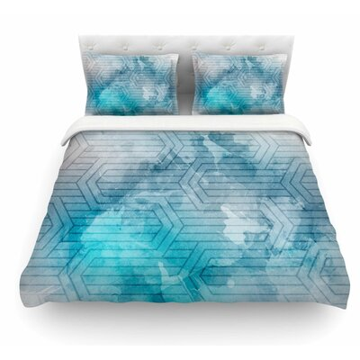 Frost Labyrinth by Matt Eklund Featherweight Duvet Cover Size: Queen