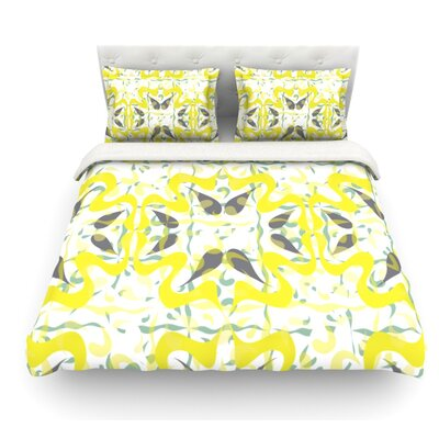 Azulejos by Miranda Mol Featherweight Duvet Cover Size: Full/Queen, Fabric: Woven Polyester