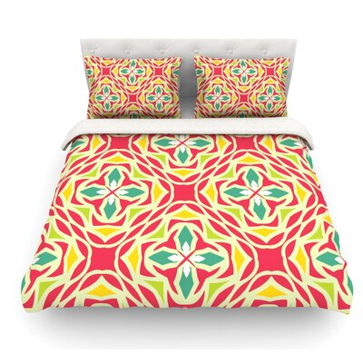 Christmas Carnival by Miranda Mol Featherweight Duvet Cover Size: Full/Queen, Fabric: Woven Polyester