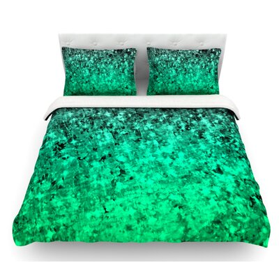Romance Me by Ebi Emporium Featherweight Duvet Cover Color: Teal/Green, Size: Twin