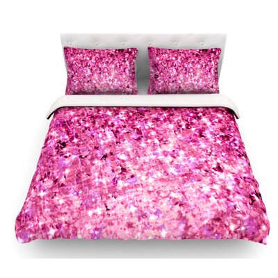 Romance Me by Ebi Emporium Featherweight Duvet Cover Size: Queen, Color: Pink