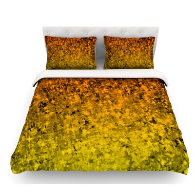 Romance Me by Ebi Emporium Featherweight Duvet Cover Color: Gold/Tangerine, Size: Queen