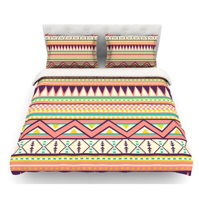 Ethnic Love by Louise Machado Tribal Geometric Featherweight Duvet Cover Size: Twin