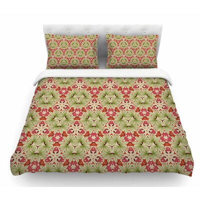 Thalia by Laura Nicholson Floral Abstract Featherweight Duvet Cover Size: Queen
