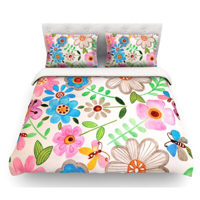 The Garden by Louise Machado Featherweight Duvet Cover Size: Twin