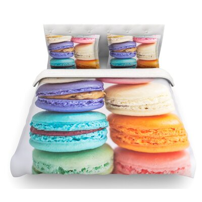 I Want Macaroons by Libertad Leal Featherweight Duvet Cover Size: Twin, Fabric: Woven Polyester