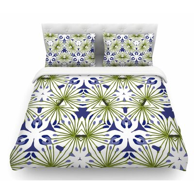 Thalia by Laura Nicholson Olive Floral Featherweight Duvet Cover Size: King