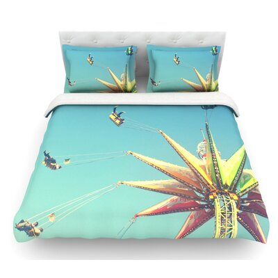 Flying Chairs by Libertad Leal Featherweight Duvet Cover Size: Full/Queen, Fabric: Woven Polyester