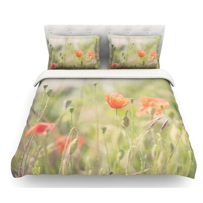 Fields of Remembrance by Laura Evans Featherweight Duvet Cover Size: King