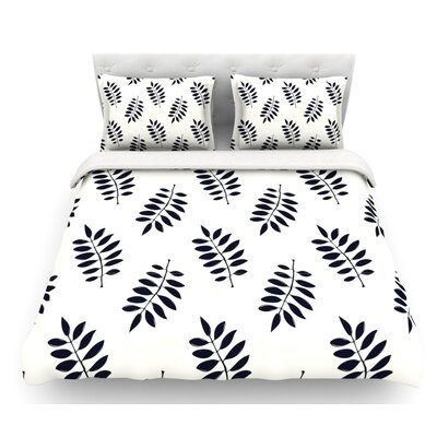 Pagoda Leaf Small by Laurie Baars Featherweight Duvet Cover Size: King, Fabric: Lightweight Polyester