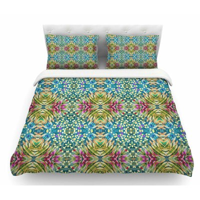 Prairie Dazzler by Laura Nicholson Floral Featherweight Duvet Cover Size: Twin