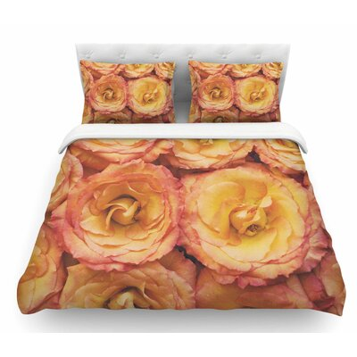 Bed of Roses by Kristi Jackson Featherweight Duvet Cover Size: King