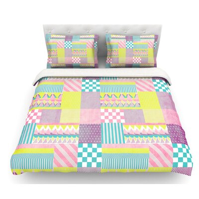 Patchwork by Louise Machado Featherweight Duvet Cover Size: King, Fabric: Cotton